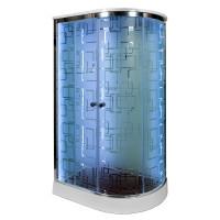 Закрытая душевая кабина Deto EM1512 L с LED-подсветкой
