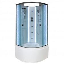 Открытая душевая кабина Deto EM4510 N с LED-подсветкой и гидромассажем