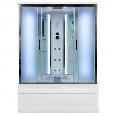 Закрытая душевая кабина Deto EM4515 с LED-подсветкой и гидромассажем