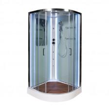 Закрытая душевая кабина Deto A01 LED с кнопкой и гидромассажем