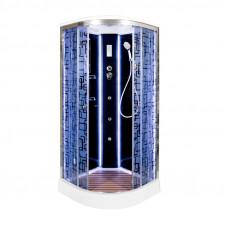 Закрытая душевая кабина Deto BM1510 с LED-подсветкой и гидромассажем